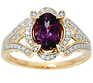 As Is Oval Lavender Spinel & Diamond 14K Gold 1.00 ct - J355517