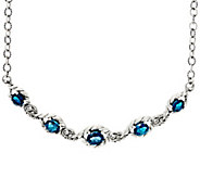 As Is Carolyn Pollack_Sterl. Silver 9.50cttw Blue Topaz Adj. Necklace - J356417