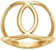 14K Gold Interlocking Circle Ring - J374817