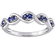 0.25 cttw Sapphire Infinity Ring, 14K White Gold - J376117