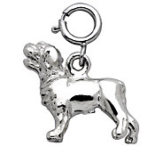 Sterling Labrador Dog Charm - J110118