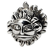 Prerogatives Sterling Silver Sun Bead - J111518