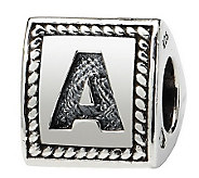 Prerogatives Sterling Triangle Alphabet Bead - J113018