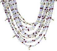 Fern Mallis Multi-color Bead Nugget Necklace - J264118
