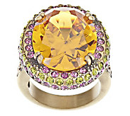 Kirks Folly Dazzling Diva Crystal Cocktail Ring - J268918