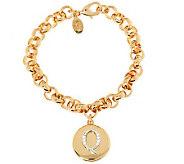 Joan Rivers Pave Initial Charm Bracelet - J282218