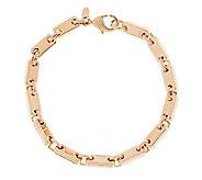 Bronze Polished Status Link Bracelet by Bronzo Italia - J291118