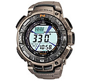 Casio Pathfinder Triple Sensor Watch w/ Titanium Band - J297618