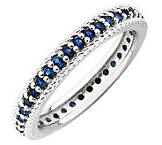 Simply Stacks Sterling Simulated Sapphire Eternity Ring - J308918