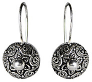 Artisan Crafted Sterling Polished Bead Center Earrings - J309518