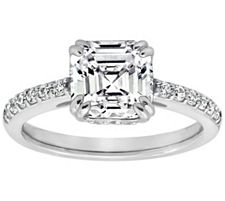 Epiphany Diamonique 2.60 ct tw Asscher Cut Ring