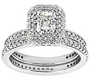 Diamonique 2.15 cttw 2 Pc. Bridal Ring Set, Platinum Clad - J310818