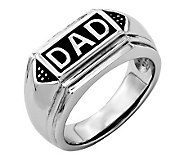 Forza Mens Stainless Steel DAD Ring - J313818
