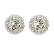 Sterling 7.35 cctw Gemstone & 1/8 cttw DiamondStud Earrings - J316018