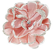 Joan Rivers Limited Edition Pink Pave Gardenia Pin - J317918