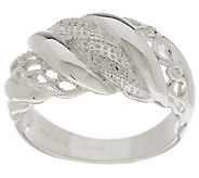 As Is Solvar Sterling Silver Aran Stitch Ring - J320218