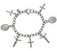 Stainless Steel Religious Motif Charm Bracelet - J322718