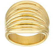 Oro Nuovo Graduated Ribbed Band Ring 14K - J322818