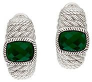Judith Ripka Sterling Green Chalcedony Earrings - J323818