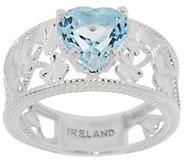 As Is Solvar Sterling Silver Gemstone Shamrock Ring - J325718