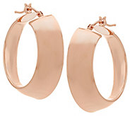 Vicenza Gold 1 Polished Mirror Round Hoop Earrings, 14K - J325818