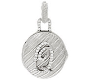 Judith Ripka Sterling Silver Diamonique Initial Locket Enhancer - J326518