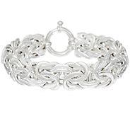 As IsSterling 7-1/4Byzantine Bracelet by Silver Style, 23.0g - J327318