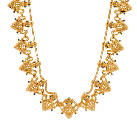as is jacqueline kennedy goldtone herald necklace
