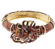 As Is Kenneth Jay Lanes Regal Lion Bangle Bracelet - J328718