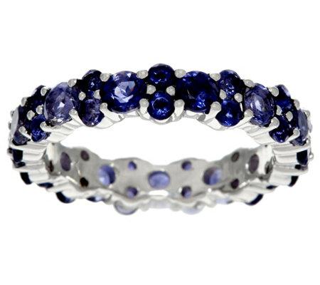 gemstone sterling silver eternity band ring 2 50
