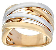 14K Gold Polished Two-Tone Highway Design Ring - J330318