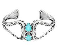 Carolyn Pollack Empress Sterling Silver Doublet Gemstone Cuff - J334018