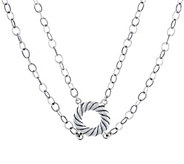 Carolyn Pollack Double Strand Sterling Silver Necklace - J334318
