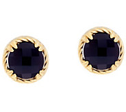 DeLatori Sterling 14K Clad & Black Onyx Stud Earrings - J334418