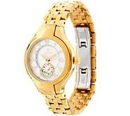 Philip Stein Goldtone Steel Bracelet Classic Round Mini Watch - J334818