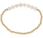 Honora Cultured Pearl & Sterling Bead Average Stretch Bracelet - J348218