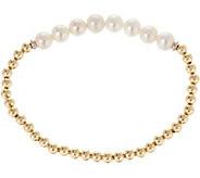 Honora Cultured Pearl & Sterling Bead Average Stretch Bracelet - J348218