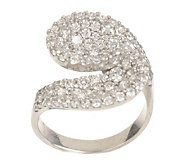 Diamonique 1.50 cttw Pave Wrap Ring, Sterling - J377418