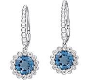 14K 3.15 cttw London Blue Topaz & 1/4 cttw Diamond Earrings - J377818