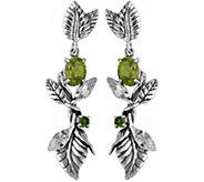 Or Paz Sterling 2.85 cttw Multi-Gemstone Dangle Earrings - J379318