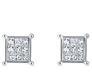 Affinity 14K 1/4 cttw Princess-Cut Invisible-Set Stud Earring - J382318