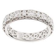 Tacori IV Diamonique Crescent Lace Band Ring, 18K Gold Clad - J271019