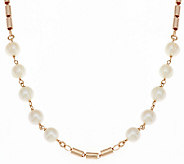 Honora Cultured Pearl 9.0mm 20 Bronze Station Necklace - J288819