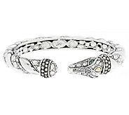 JAI Sterling & 14K Accent Gemstone Croco Head Cuff Bracelet - J291719