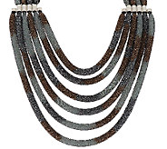 Joan Rivers Mesh Seed Bead Multi-strand 19 Necklace w/ 3 Extender - J292319