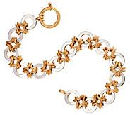 14K Gold 7-1/4 High Polished Interlocking Link Bracelet, 10.5g - J295519