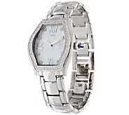Diamonique Tortue Style Watch with Bracelet Strap - J296719