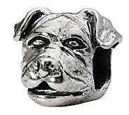 Prerogatives Sterling Rottweiler Head Bead - J299519