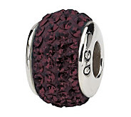 Prerogatives Sterling Dark Maroon Full Swarovski Crystal Bead - J299619