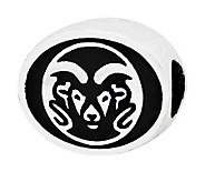 Sterling Silver Colorado State University Bead - J300819